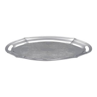 Chromium Plated Serving Tray For Sale