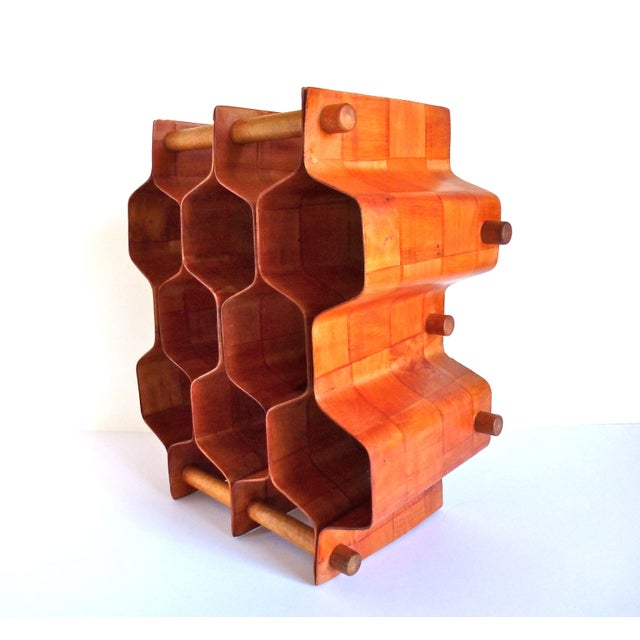 Torsten Johansson Bentwood Honeycomb Wine Rack - Image 5 of 8