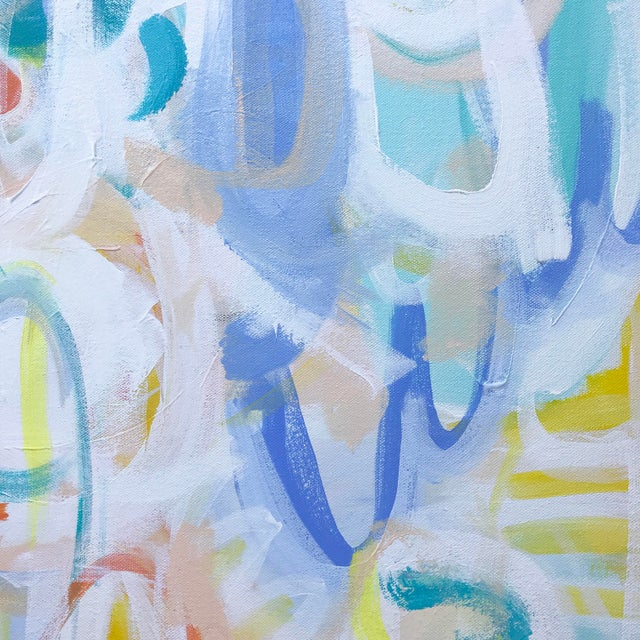"""""""Loca"""" by abstract artist Christina Le Sesne Longoria. Original artwork completed in 2019, this piece is brand new and in..."""
