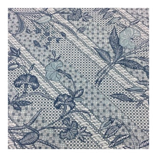 Blue Printed Cotton Fabric - 9.2 Yards