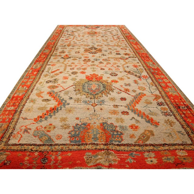 Antique Turkish Arts & Crafts Oushak Rug - 8′4″ × 17′3″ For Sale In New York - Image 6 of 11