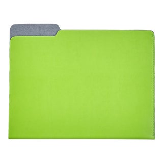 File Folder, Bonded Leather in Lime For Sale