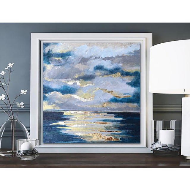 2010s 'At Sea' Original Abstract Landscape Painting by Linnea Heide For Sale - Image 5 of 8
