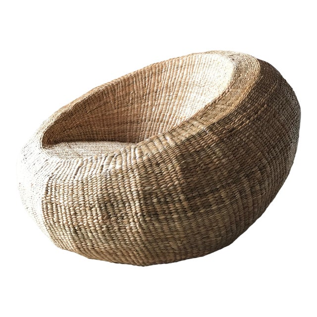 Mario Lopez Torres Woven Orb Chair For Sale