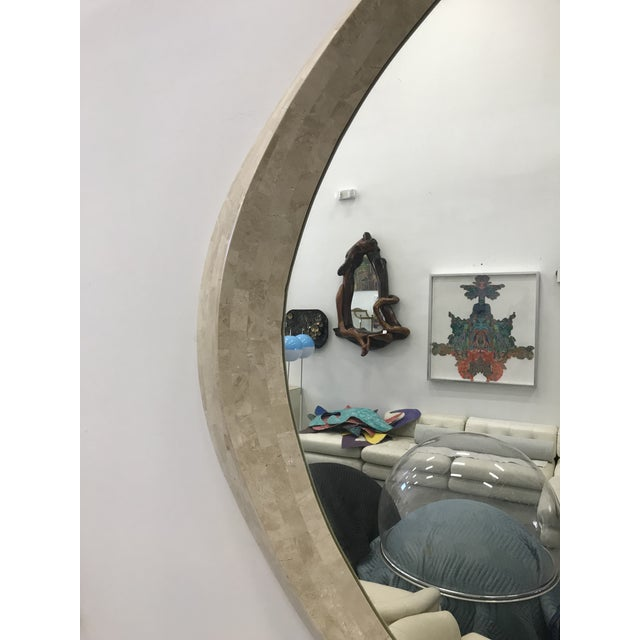 1980s Robert Marcius for Casa Bique Tessellated Stone Mirror For Sale - Image 5 of 9