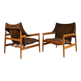 """1960s Mid Century Swedish """"Kinna"""" Armchair by Hans Olsen - a Pair For Sale"""