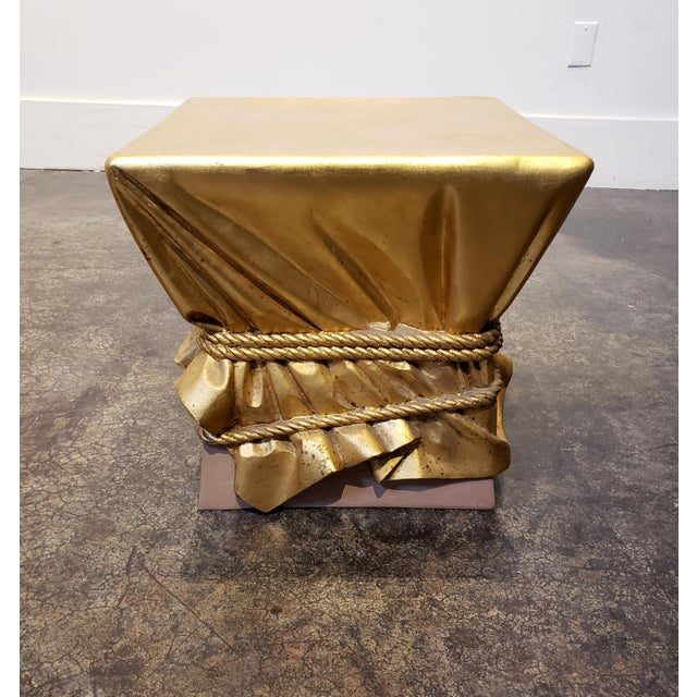 Pink and Gold Hollywood Regency Draped Coffee Table For Sale In Dallas - Image 6 of 9