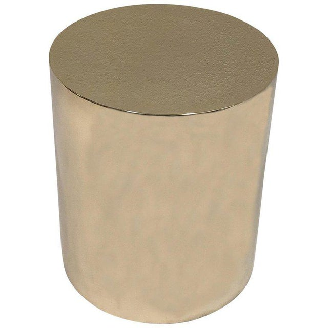 Gold Polish Brass Drum Table by Brueton For Sale - Image 8 of 8