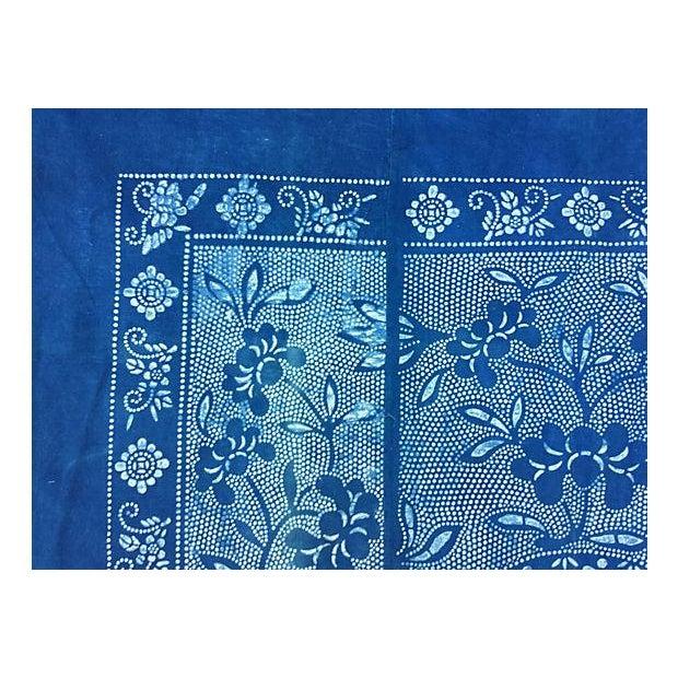 Vintage Indigo Batik Panel - Image 4 of 7