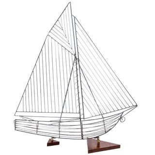 Modern Sailboat in the Style of Curtis Jere For Sale