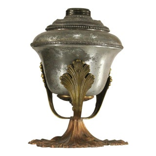 Antique Table Oil Lamp Base, 3 Gold Colors For Sale