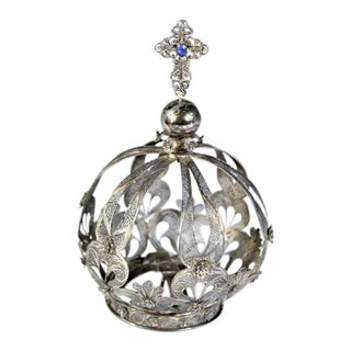 18th C. Portuguese Silver Crown For Sale