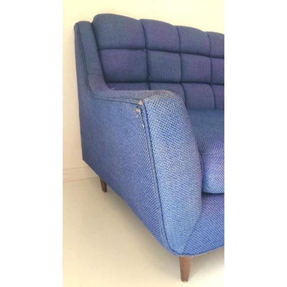 Mid-Century Blue Sofa by Stratford - Image 5 of 6