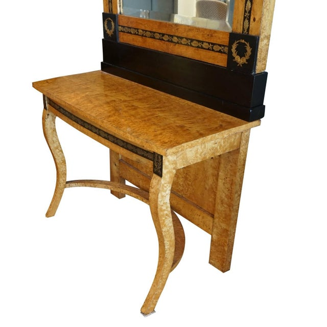 19th Century Russian Beechwood Mirrors With Consoles - a Pair For Sale - Image 4 of 6