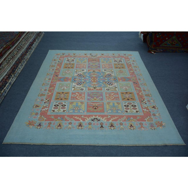 Vintage Turkish Anatolian Oushak Rug - 8'2″x9'3″ - Image 5 of 5