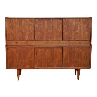 "Original Danish Mid CenturyCredenza / China Cabinet - ""Nordskov"" For Sale"