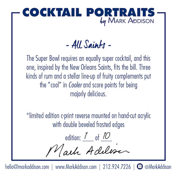 Minimalism 'All Saints Limited-Edition Cocktail Portrait Photograph For Sale - Image 3 of 10