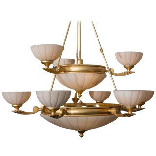 Contemporary Chandelier with Empire Influence For Sale