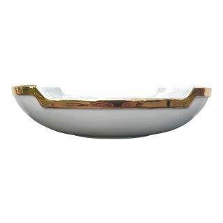 Haeger Gold Rimmed Ceramic Dish For Sale