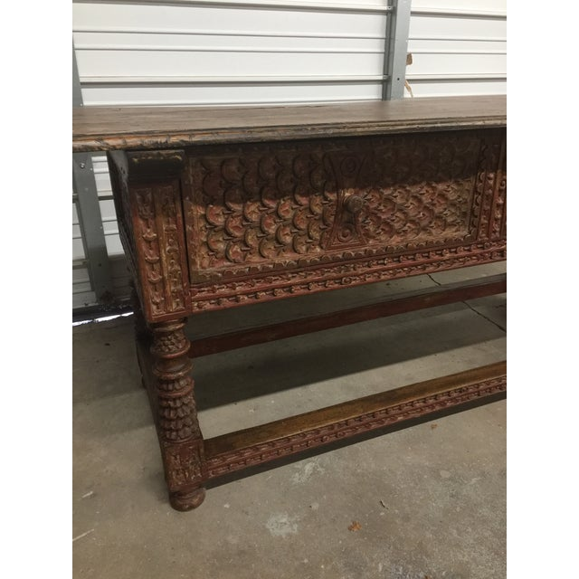 Peruvian Carved Console Table - Image 3 of 5