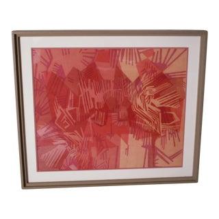 """""""Ocean Storm"""" Batik Textile Art by Louise Wilson For Sale"""