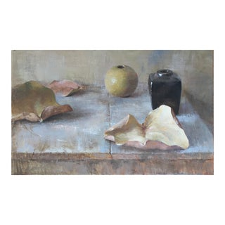 "Brown Contemporary Framed Still Life ""Circle Game"" For Sale"