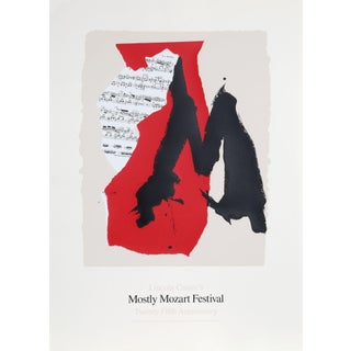 Robert Motherwell, Lincoln Center Mostly Mozart, Lithograph Preview