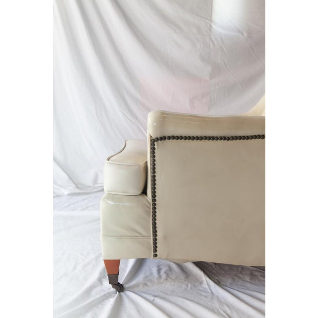 Vintage Tufted Club Chair with Casters For Sale In Los Angeles - Image 6 of 8