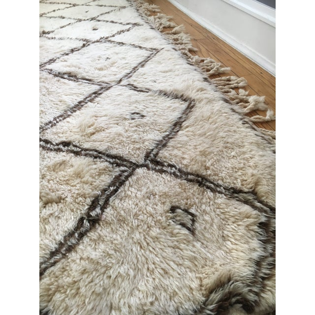 """Amira"" Wool Beni Ourain Rug - 7′1″ × 10′3″ - Image 3 of 3"