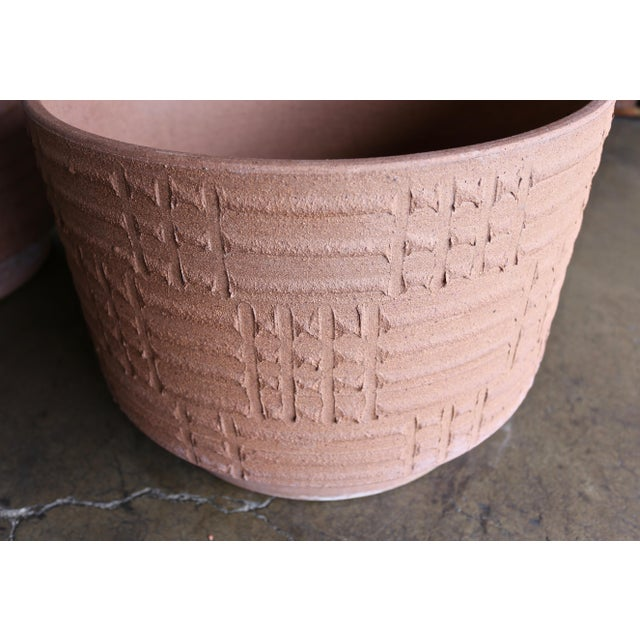 Architectural Pottery Mid Century David Cressey Staccato Planters - a Pair For Sale - Image 4 of 9