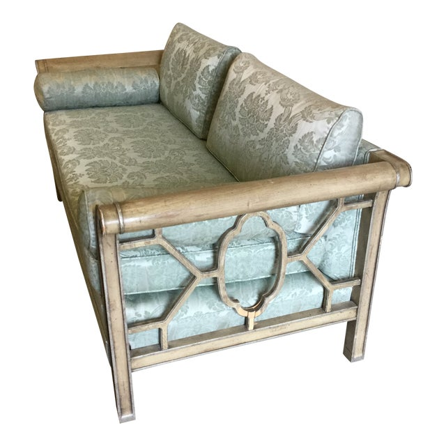 Palm Beach Regency Style Fretwork Love Seat For Sale