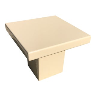 Postmodern Killer Lacquered Wood Side Table For Sale