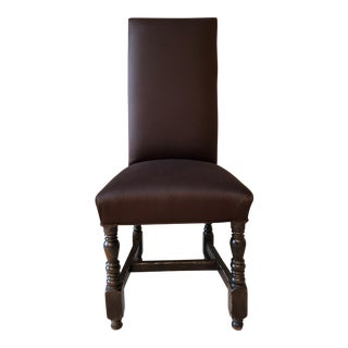 Set of 6 1990s Vintage Jacobean Style Dining Chairs For Sale
