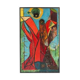 Shiro Ikegawa Abstract Oil Painting For Sale