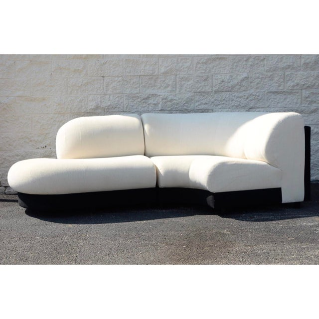 Postmodern 1990s Vladimir Kagan Style Serpentine 2 Piece Sectional by Preview For Sale - Image 3 of 4