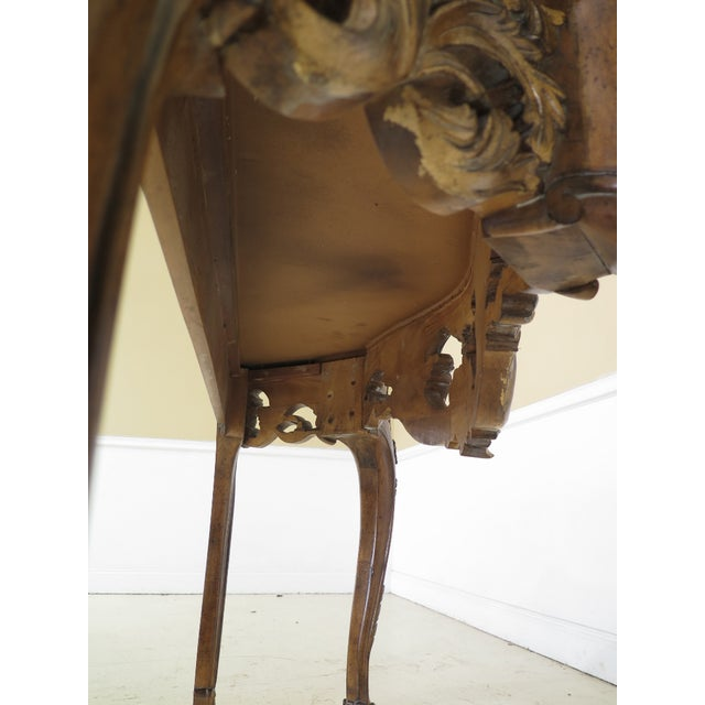 Modern Italian Carved Console Table For Sale - Image 10 of 11