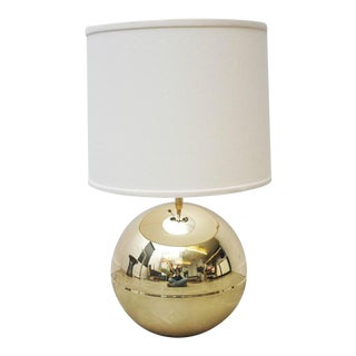 Karl Springer Brass Sphere Table Lamp For Sale