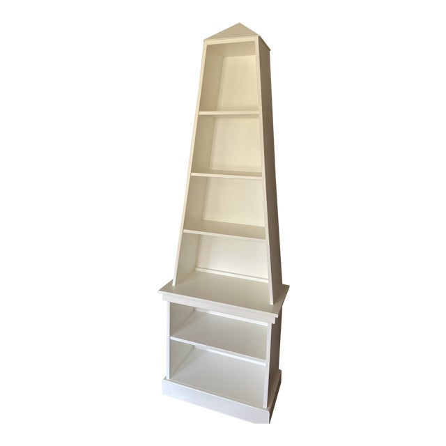 Irwin and Lane Obelisk Bookcase Etagere With Pyramid Top For Sale