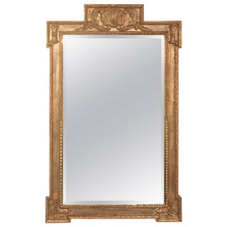 Italian Style Giltwood Mirror With Scallop Shell For Sale