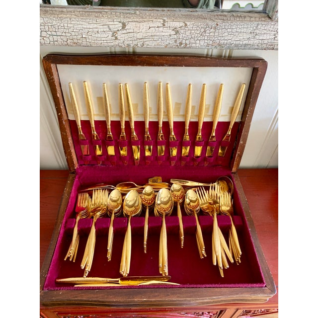 Midcentury Japan, Gold Stainless Flatware Set of 100 For Sale - Image 13 of 13