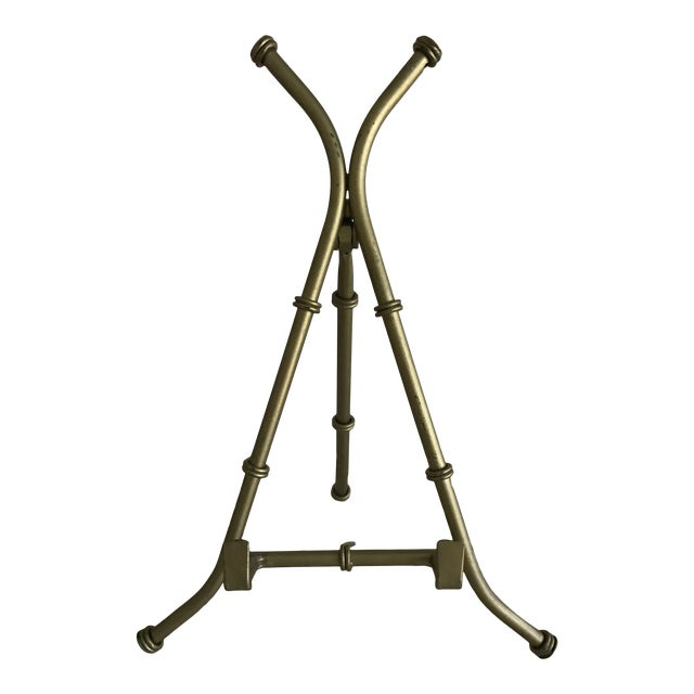 Gold Faux Bamboo Table Easel For Sale