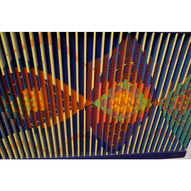 Abstract Painted Relief by Louis Nadalini For Sale - Image 4 of 7