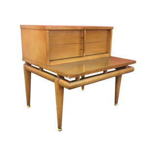 Mid Century End Table With Drawer by Kent Coffee