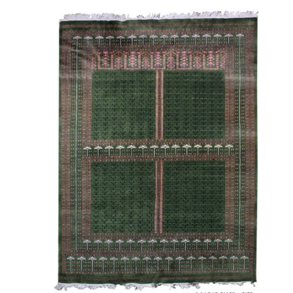 Hand-Knotted Pakistan Bokhara Rug For Sale - Image 9 of 9