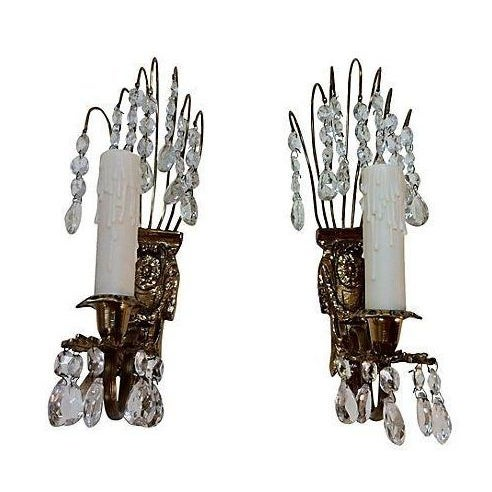 Gustavian Chandelier Sconces - A Pair - Image 1 of 3
