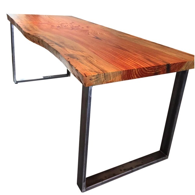 Ojai Stone Pine Live Edge Dining Table - Image 1 of 6