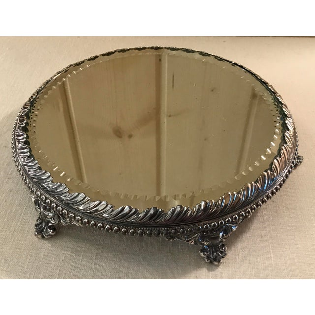 Vintage Silverplate Mirrored Plateau Stand - Image 5 of 10