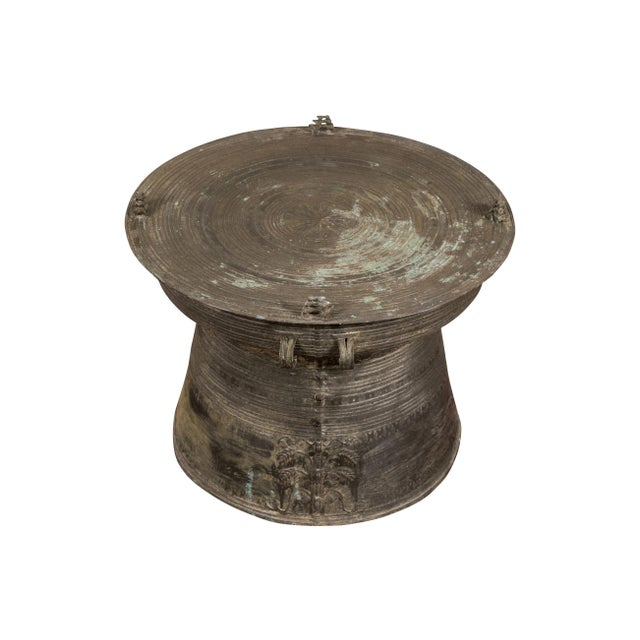 South Asian Bronze Rain Drum Table For Sale - Image 9 of 9