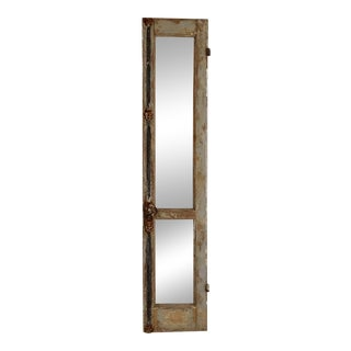 Antique Provence Shutter W/Beveled Mirror For Sale