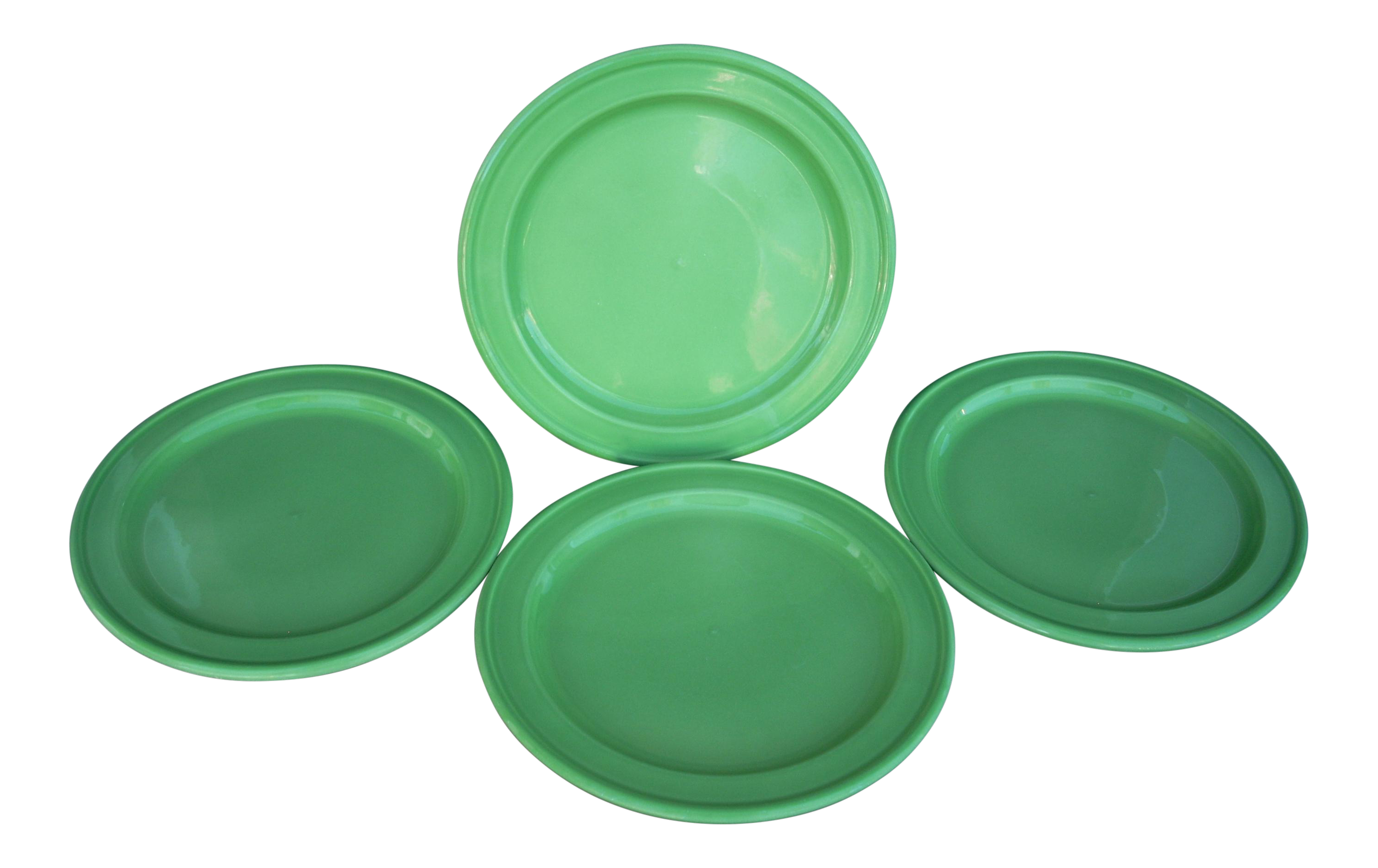 Emile Henry Green Dinner Plates - Set of 4  sc 1 st  Chairish : dinner plate in french - pezcame.com